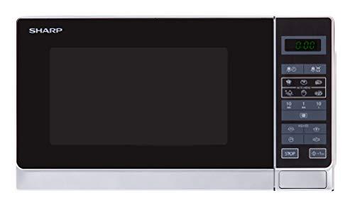Sharp R242WW Solo-Mikrowelle / 20 L / 800 W / 5 Leistungsstufen / 8 Automatikprogramme / Gewicht- und...