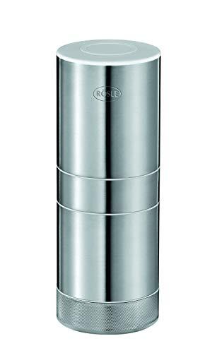 RÖSLE Knoblauchschneider, Ø 5,5 cm, Edelstahl 18/10, für feine Würfel Knoblauch oder Ingwer, komplett...