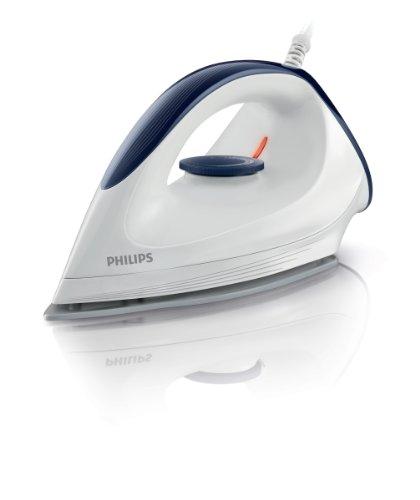 Philips GC160/02 Trocken-Bügeleisen mit DynaGlide-Bügelsohle, 1200 Watt, weiß/blau