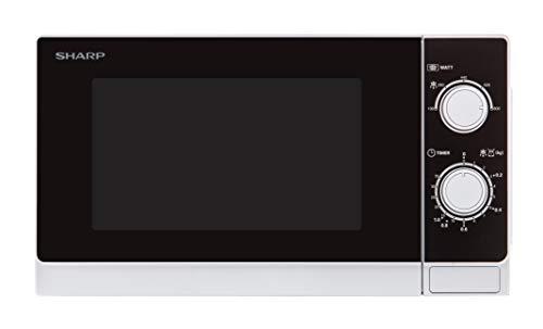 Sharp R200WW Solo-Mikrowelle / 20 L / 800 W / 5 Leistungsstufen / Timer von 35 Minuten bis 00 Sekunden /...