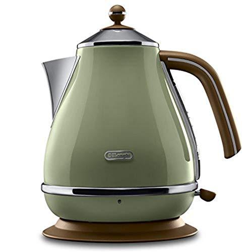 De'Longhi Wasserkocher Icona Vintage KBOV2001.GR - 1,7 l mit Wasserstandsanzeige und 360° Basis,...