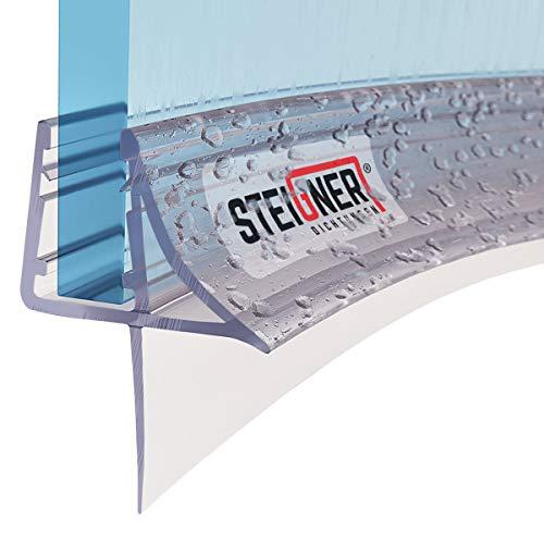 STEIGNER Duschdichtung, 90cm, Glasstärke 6/7/ 8 mm, Vorgebogene PVC Ersatzdichtung für Runddusche, UK09