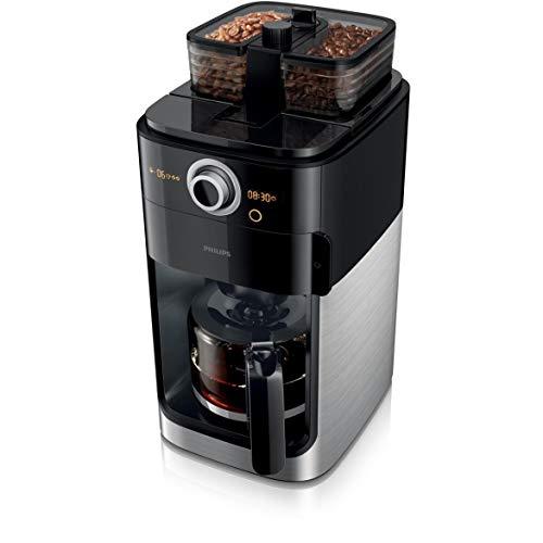 Philips Grind und Brew HD7769/00 Filterkaffeemaschine (mit Mahlwerk, Timer, doppeltes Bohnenfach)...