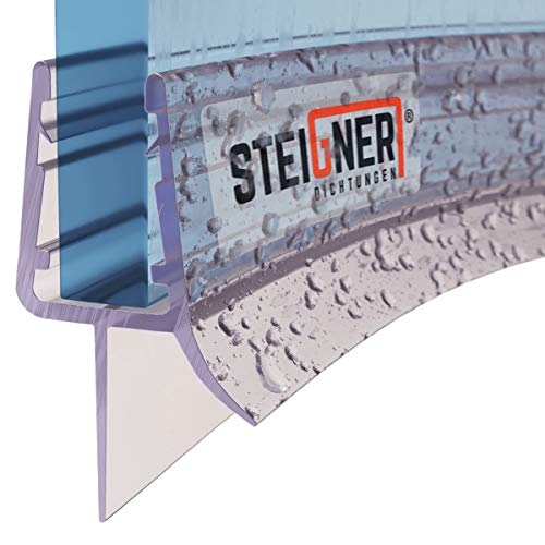 STEIGNER Duschdichtung, 100cm, Glasstärke 6/7/ 8 mm, Vorgebogene PVC Ersatzdichtung für Runddusche,...
