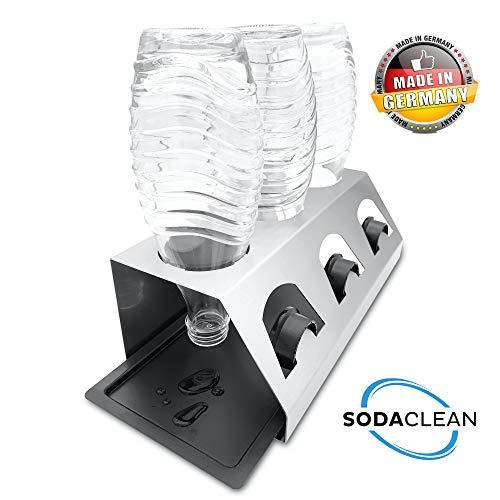 SodaClean® Premium Abtropfhalter aus Edelstahl mit Abtropfwanne - für SodaStream und Emil Flaschen |...