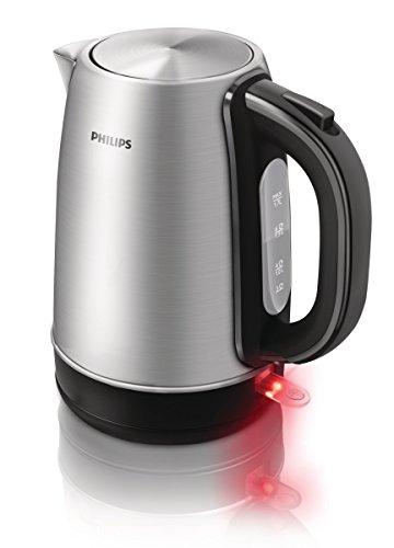 Philips HD9321/20 Wasserkocher 1.7 L, 2200 W, 360 Grad Pirouette, edelstahl