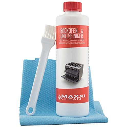 Maxxi Clean Backofenreiniger 500-ml Gel Paste inkl. Backofen- und Grillreiniger Pinsel | löst...