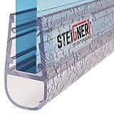 STEIGNER Duschdichtung, 190cm, Glasstärke 6/ 7/ 8 mm, Gerade PVC...