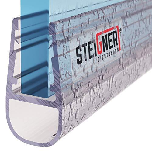 STEIGNER Duschdichtung, 190cm, Glasstärke 6/7/ 8 mm, Gerade PVC Ersatzdichtung für Dusche, UK07