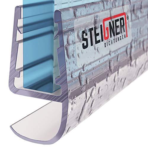 STEIGNER Duschdichtung, 200cm, Glasstrke 5/6/ 7/8 mm, Gerade PVC Ersatzdichtung fr Dusche, UK15
